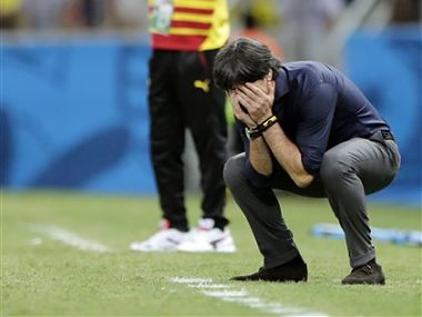 The match against Ghana has given Germany a lot to think about. AP
