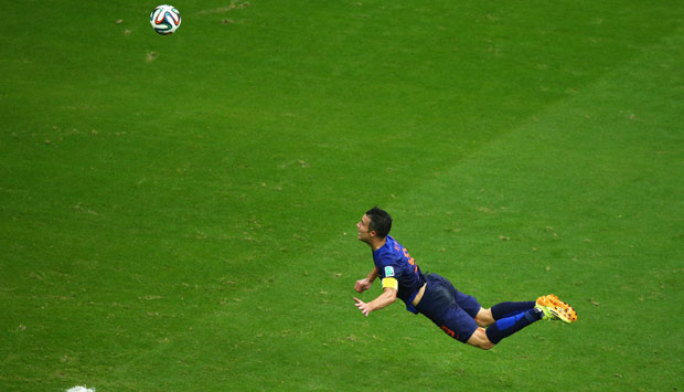 RVP's sensational header. Getty Images