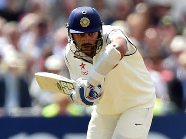 India's Murali Vijay bats during the first day of the first cricket Test match between England and India at Trent Bridge. AFP