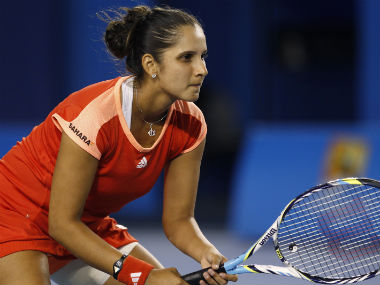 Sania Mirza in action during a S And Sania Mirza In Action