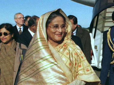 Bangladesh PM Sheikh Hasina asked the country's Hindus to be firm in demanding rights. Agencies