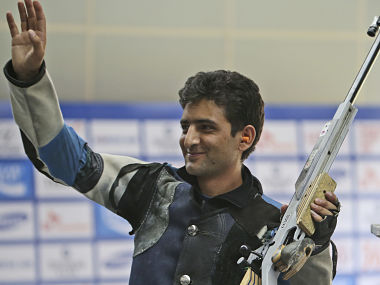 India's Chain Singh waves after winning bronze. AP