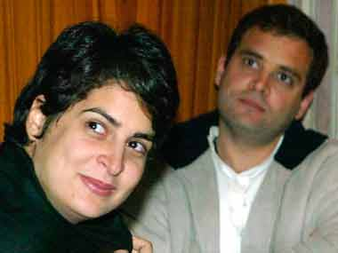 Priyanka and Rahul. Reuters image.