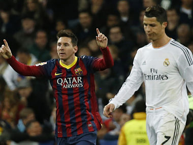File picture of Barcelona's Lionel Messi and Real Madrid's Cristiano Ronaldo. Reuters