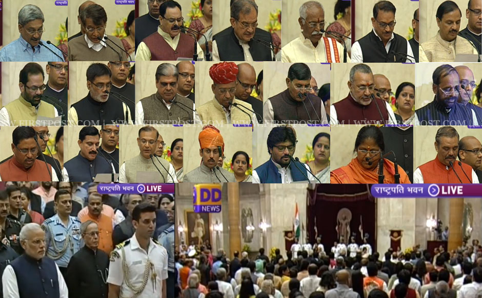 Photos: Modi's cabinet expansion complete with 4 new cabinet ...