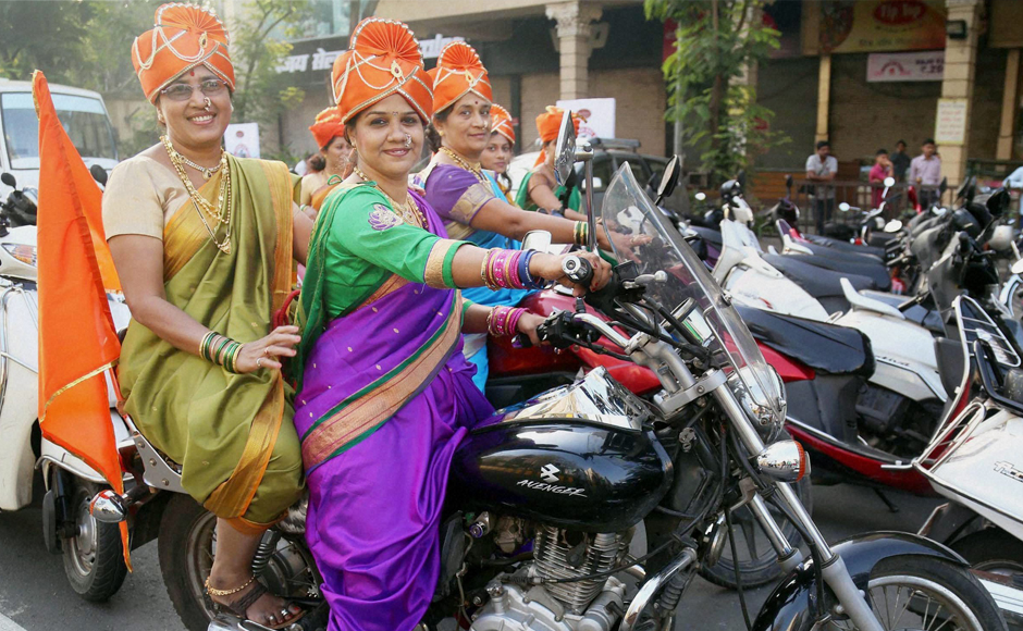 Bikes For Women In India Mumbai Women dressed in