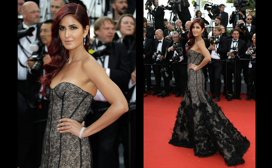 Katrina Kaif arrives for the opening ceremony and the screening of the film La Tete Haute (Standing Tall) at the 68th international film festival, Cannes, southern France, Wednesday, May 13, 2015. AP