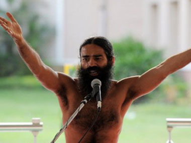 Ramdev took the meaning of a press conference to an entirely new level.