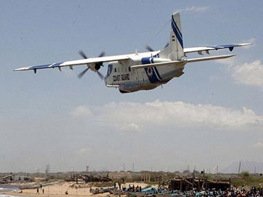 File photo of a Dornier surveillance aircraft deployed by the Indian Coast Guard. AFP