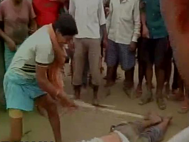 Angry mob thrashed DPS director to death. Twitter/ @ANI_news