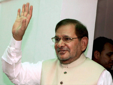 Sharad Yadav in a file photo. PTI