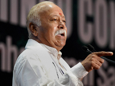 Mohan Bhagwat, the current head of the RSS. PTI image