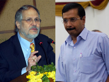Delhi L-G Najeeb Jung (left) and CM Arvind Kejriwal. Agencies