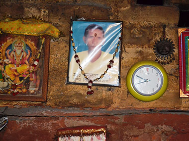 A photo of Nand Prasad is seen at the litti-chokha shop. Tarique Anwar/Firstpost