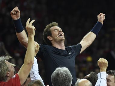 Andy Murray at last year's Davis Cup. AFP