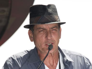 File photo of Charlie Sheen. AFP