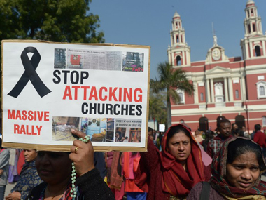 An RSS-based think tank has said that the Delhi church attacks were hyped. AFP