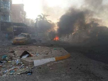 File image of an attack in Iraq. AP