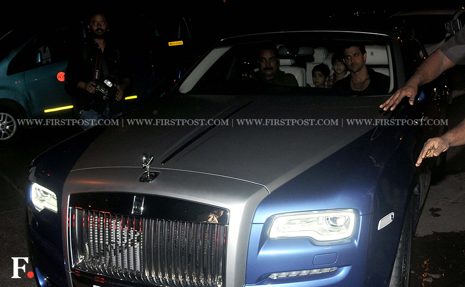 Hrithik Roshan with his birthday gift: a swanky new Rolls Royce Ghost. Firstpost/Sachin Gokhale