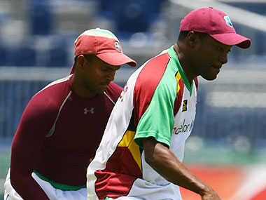 File photo of Chanderpaul and Lara. Getty Images