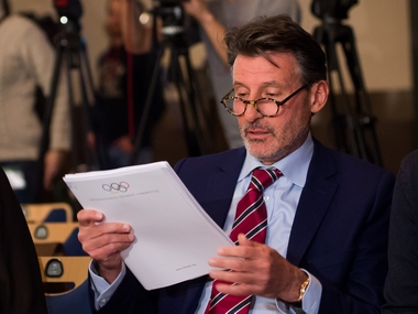 IAAF President Sebastian Coe attends a press conference on WADA report concerning allegations of widespread doping and corruption  the world of athletics. AFP