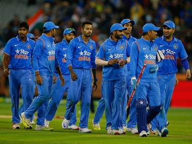 Team India after T20 series win in Australia. Getty