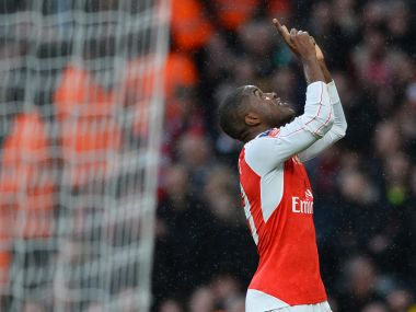 Joel Campbell scored the first goal for Arsenal as they came from behind to beat Sunderland. AFP