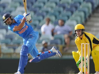 Manish Pandey in action against Western Australia XI at Perth. AFP