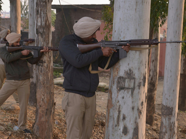 Security forces in Pathankot. AFP