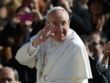File photo of Pope Francis. AFP