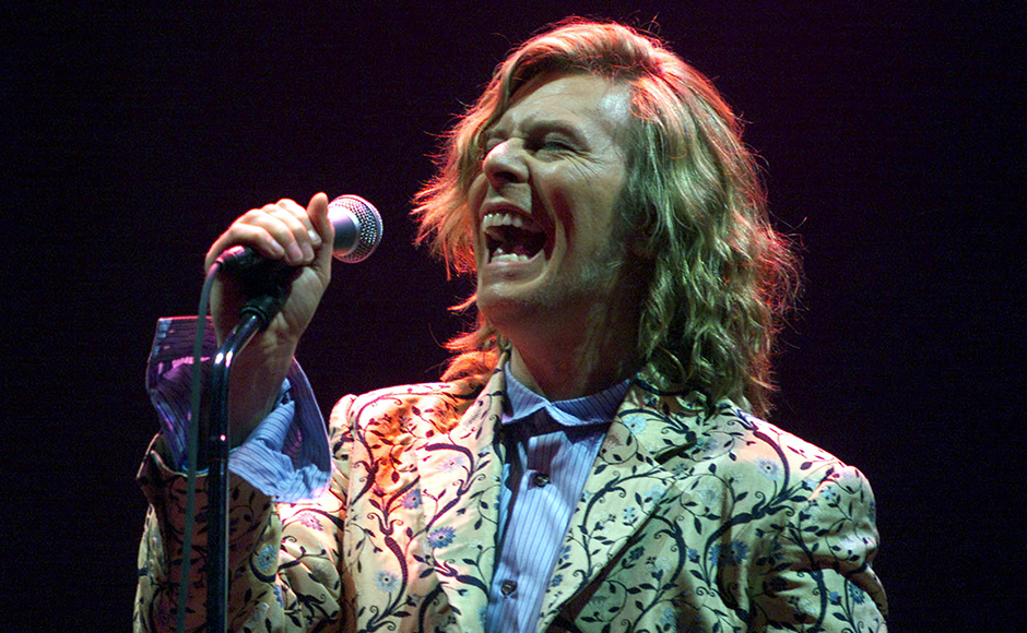 Music legend David Bowie performing at the Glastonbury Festival in 2000. The visionary British rock star, who framed hits such as Space Oddity with flamboyant pop personas like 'Ziggy Stardust' and androgynous displays of sexuality,passed away on Monday aged 69 after a secret battle with cancer. Reuters