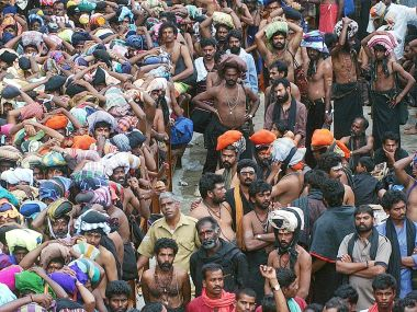 A file photo of pilgrims queuing up at the Sabarimala shrine. Reuters