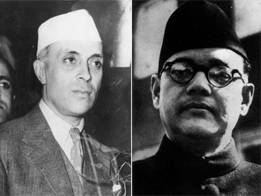 Jawaharlal Nehru (left) and Subhash Chandra Bose. GettyImages