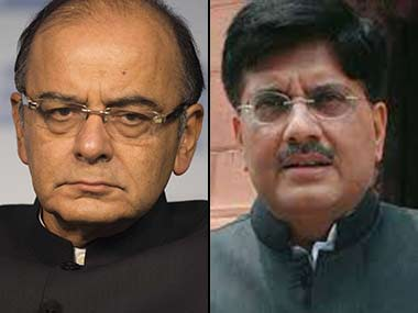 Arun Jaitley (left) and Piyush Goyal.