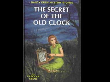 Carolyn Keene's first Nancy Drew novel 'The Secret Of The Old Clock.' Image: Grosset & Dunlap/WikiMedia