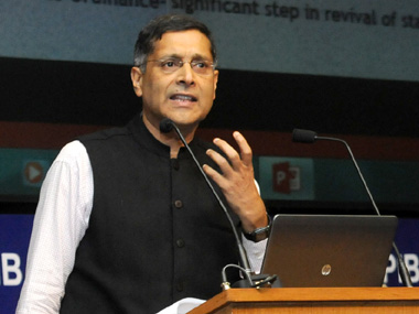 Chief Economic Advisor Arvind Subramanian. Image courtesy PIB