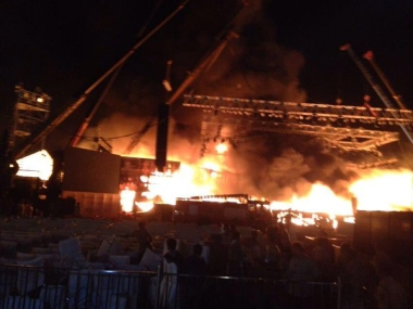 Major fire breaks out during 'Make in India' cultural event in Mumbai, no casualties reported