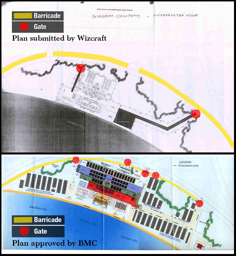 This map was submitted to the BMC by the event management company.