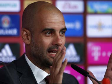 Pep Guardiola will succeed Manuel Pellegrini as Man City manager. Reuters