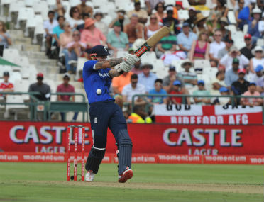 England batsman Alex Hales in action against South Africa in the 5th and final ODI at Newlands in Cape Town on Sunday. AFP