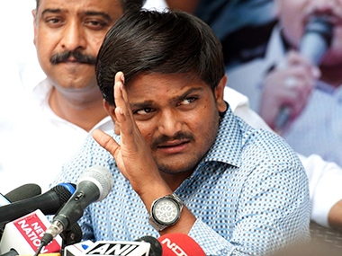 Hardik Patel launched an indefinite hunger strike. Agencies