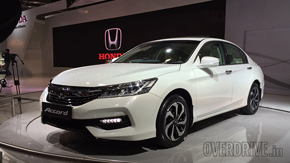 2016 auto expo honda accord and br v unveiled. Black Bedroom Furniture Sets. Home Design Ideas