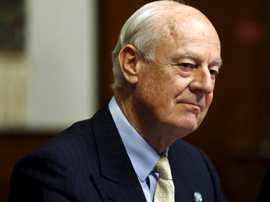 U.N. mediator for Syria Staffan de Mistura. Reuters