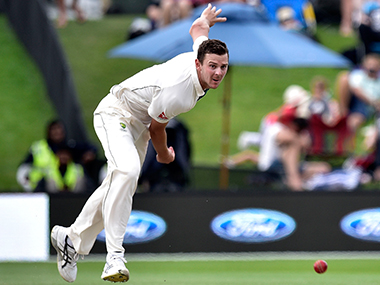 Aussie paceman Josh Hazlewood has been fined 15% of his match fees for swearing at umpires during the second Test against New Zealand in Christchurch on Tuesday. AFP