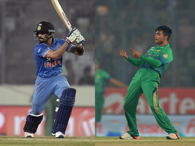 Virat Kohli and Mohammad Amir brought their best in Dhaka on Saturday. AFP