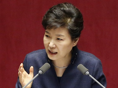 South Korean President Park Geun-hye. AP