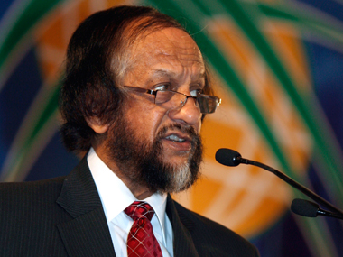 RK Pachauri. File photo Reuters