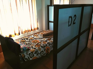 Bed D-2 which was frequently booked by Sameer Sardana during his visit to Vasco railway station. Image provided by sources