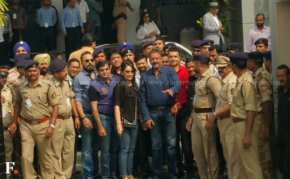 Sanjay Dutt is back in Mumbai after being released from Yerawada Central Jail, Pune. He was sentenced to undergo five years' rigorous imprisonment for illegal possession of arms during the March 1993 Mumbai serial blasts. Arrested in 1993, Dutt had already served 18 months as an undertrial and then returned to jail in May 2013 to serve the remainder of his sentence. Sachin Gokhale/Firstpost