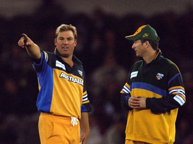 File photo of Shane Warne (left) and Steve Waugh. Getty